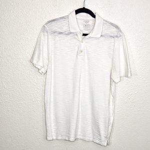 Vince White Cotton Polo Shirt Size M